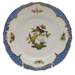 Rothschild Bird Blue Border Bread and Butter Plate, Motif #6