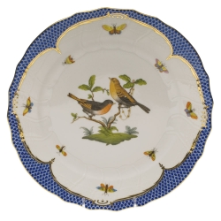Rothschild Bird Blue Border Dinner Plate, Motif #9