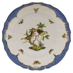 Rothschild Bird Blue Border Dinner Plate, Motif #11