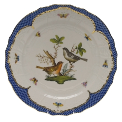 Rothschild Bird Blue Border Service Plate, Motif #5