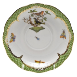 Rothschild Bird Green Border Tea Cup Saucer - Motif #3