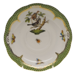 Rothschild Bird Green Border Tea Cup Saucer - Motif #4