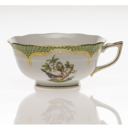 Rothschild Bird Green Border Tea Cup - Motif #2