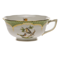 Rothschild Bird Green Border Tea Cup - Motif #8