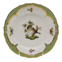 Rothschild Bird Green Border Bread and Butter Plate - Motif #10