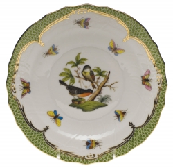 Rothschild Bird Green Border Salad Plate, Motif #2