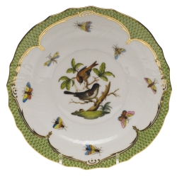 Rothschild Bird Green Border Salad Plate, Motif #4