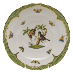 Rothschild Bird Green Border Salad Plate - Motif #12