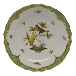 Rothschild Bird Green Border Service Plate - Motif #6