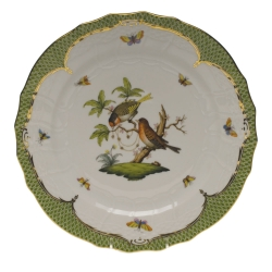 Rothschild Bird Green Border Service Plate - Motif #10