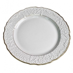 Simply Anna Polka Gold Dinner Plate