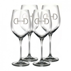 Cheval-Equestrian Wine Glasses, Set of Four