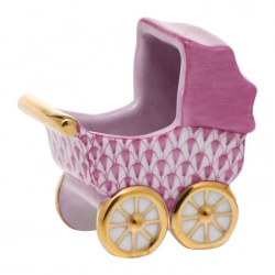 Shaded Baby Carriage in Raspberry