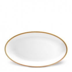 Soie Tressee Gold Large Oval Platter