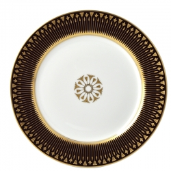 Soleil Levant Chocolate Accent Salad Plate