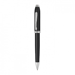 Townsend Black Lacquer with Rhodium Plated Ballpoint Pen