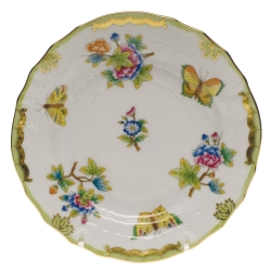 Queen Victoria Green Bread and Butter Plate