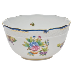Queen Victoria Blue Round Bowl
