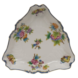 Queen Victoria Blue Triangle Dish