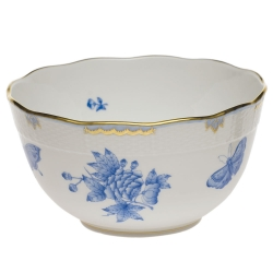 Fortuna Blue Round Bowl