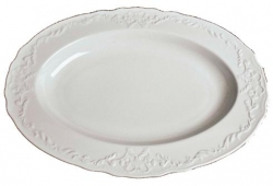 Simply Anna White Oval Platter