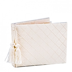 White Guest Book with Tassel