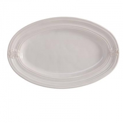 Acanthus Whitewash Medium Platter