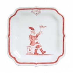Country Estate Reindeer Games Santa Party Plate