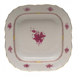 Chinese Bouquet Raspberry Square Fruit Dish