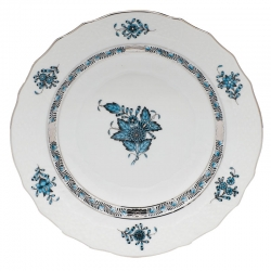 Chinese Bouquet Turquoise Salad Plate
