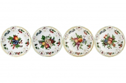 Duke of Gloucester Bread and Butter Plates, Set of Four