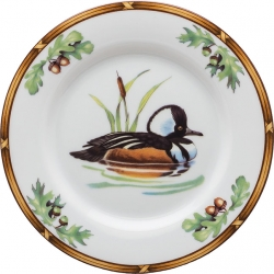 Game Birds Hooded Merganser Bread and Butter Plate