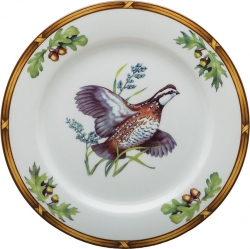 Game Birds Bob White Quail Luncheon Plate
