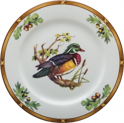 Game Birds Wood Duck Luncheon Plate