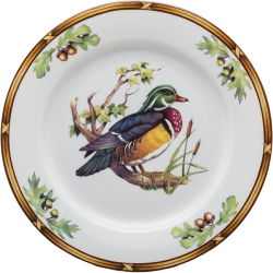 Game Birds Wood Duck Salad Plate