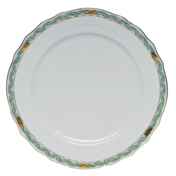 Chinese Bouquet Garland Green Service Plate