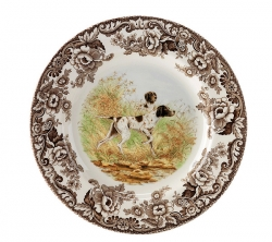 Woodland Flat Coated Pointer Dinner Plate