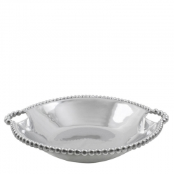 String of Pearls Handled Serving Bowl