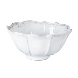 Incanto White Baroque Medium Serving Bowl