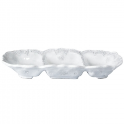 Incanto White Lace Medium Three Part Server