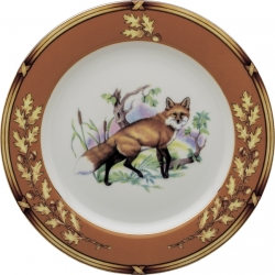 American Wildlife Fox Salad Plate