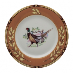 American Wildlife Pheasant Bread and Butter Plate