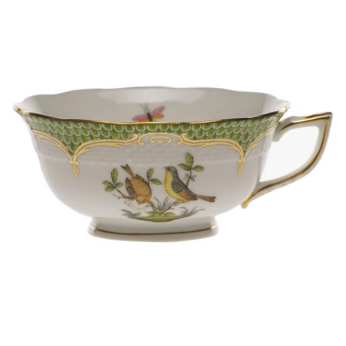 Rothschild Bird Green Border Tea Cup Motif 7 Lv Harkness Amp Company