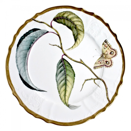Antique Forest Leaves Dinner Plate