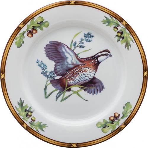 Game Birds Bob White Quail Salad Plate