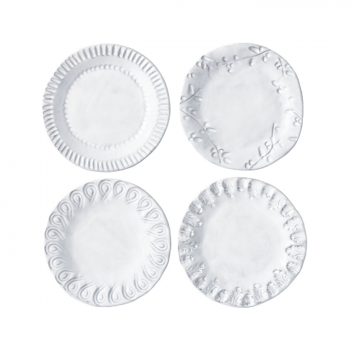 Incanto white assorted canape plates lv harkness company for What are canape plates