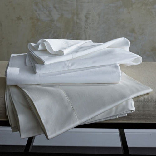 stresa solid sateen white queen fitted sheet lv harkness company. Black Bedroom Furniture Sets. Home Design Ideas