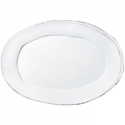 Lastra White Large Oval Platter