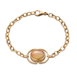 Cognac Locket Bracelet