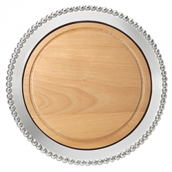Pearled Maple Round Board